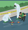 crime scene investigation vector image