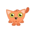 Cute cat lying and hunting vector image vector image