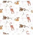 cute funny monkey seamless pattern childish apes vector image vector image