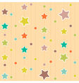 Cute pattern with stars and circles vector image vector image