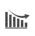 declining graph sign black icon from many vector image vector image