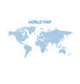 dotted blank blue world map isolated on white vector image vector image
