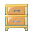 double drawer icon cartoon style vector image