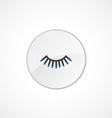 eyelash icon 2 colored vector image