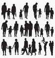 family 2 silhouettes vector image vector image