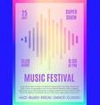 festival poster music flyer carnival design vector image vector image