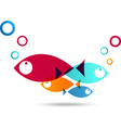 Fish Icon Abstract Background vector image