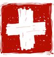 Flag of Switzerland handmade vector image