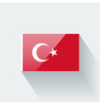Flag of Turkey vector image vector image