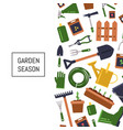 flat gardening icons background vector image vector image
