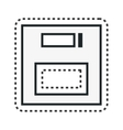 floppy disk retro isolated icon vector image vector image