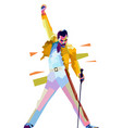 freddie mercury iconic pose vector image vector image