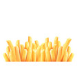 french fries roasted potato vector image vector image