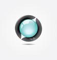 glass-ball-3d-logo vector image vector image