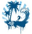 grunge surfer vector image