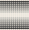 halftone circles and rings monochrome background vector image vector image