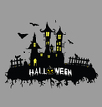 halloween on color vector image vector image