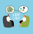 keep calm psychiatrist listening and counseling vector image vector image