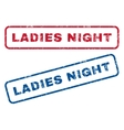 Ladies Night Rubber Stamps vector image vector image