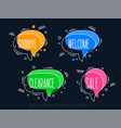 linear promotion banner 3d shapes colorful vector image