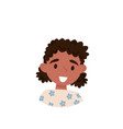 lovely african american girl avatar of cute vector image vector image