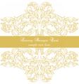 Luxury Baroque Ornamented card vector image