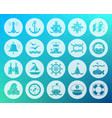 marine shape carved flat icons set vector image vector image