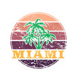 miami colorful label vector image vector image