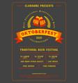 oktoberfest beer festival celebration typography vector image