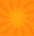 orange cartoon swirl design helix rotation rays vector image