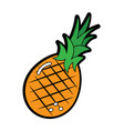 pineapple fruit icon image vector image vector image