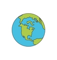 planet world earth icon vector image vector image