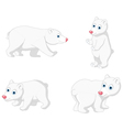 polar bear cartoon collection vector image vector image