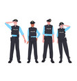 policemen in tactical gear standing together riot vector image vector image