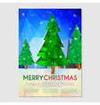 Poster with Christmas tree vector image vector image