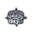 Premium Quality Clothing Vintage Emblem vector image vector image
