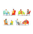 psyhologist individual consultation color flat vector image