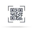 qr scan icon concept encode matrix ecommerce vector image vector image