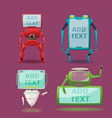 robot monitor character collection set vector image