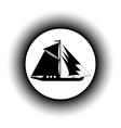 Sailing ship button vector image vector image