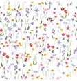 Seamless bright floral pattern with different vector image vector image