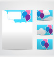 set of blank templates vector image vector image