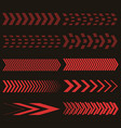 set of red arrows vector image vector image