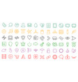 set of web linear flat ui icons vector image