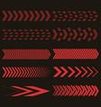 set red arrows vector image vector image