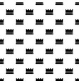 silver crown pattern seamless vector image vector image