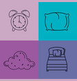 sleep time icons flat set with vector image vector image
