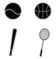 sport icon set vector image vector image