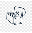 treasure concept linear icon isolated on vector image