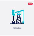 two color petroleum icon from desert concept vector image vector image